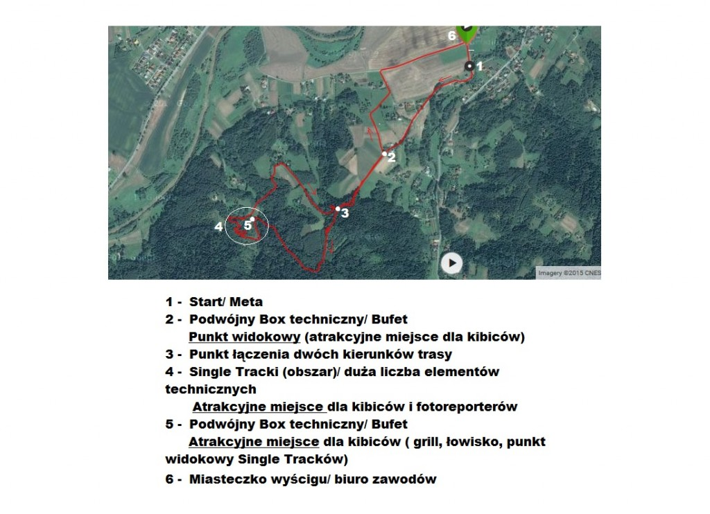 2015-08-09 Tuchów XCO - mapa trasy